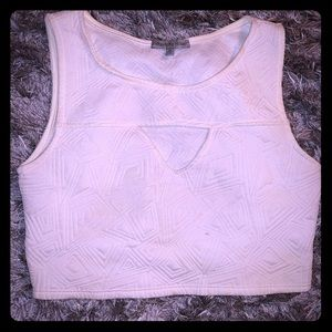 Charlotte Russe White Crop Top